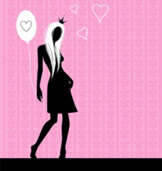 pink love vector image
