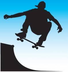 skater front side air vector image vector image