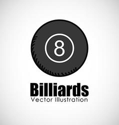 billiards ball design vector image