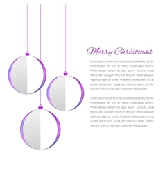 Christmas balls cutted from papaer vector image vector image