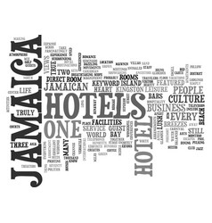 Jamaica hotels text background word cloud concept vector