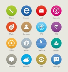 Mobile and tablet app icons 3 vector