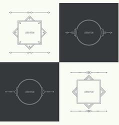 vintage linear geometric frame vector image