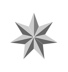 3d beveled star vector