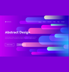 Abstract background geometric shape landing page vector