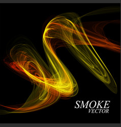 abstract colorful smoke isolated on black vector image