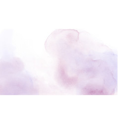 abstract light pink mixed purple stain watercolor vector image