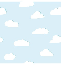 Abstract paper clouds seamless pattern vector