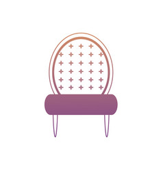 Accent chair icon vector