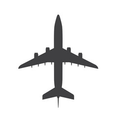 Airplane top view icon aircraft passenger plane vector
