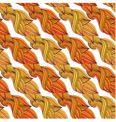 Autumn seamless pattern in yellow and orange vector