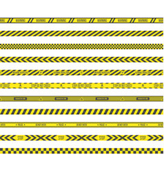 Barricade construction tape vector