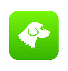beagle dog icon digital green vector image