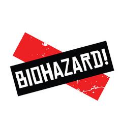 Biohazard stamp in german vector