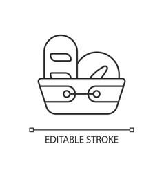 bread basket linear icon vector image