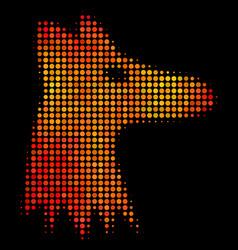 Bright dotted fox head icon vector