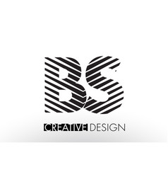 Bs b s lines letter design with creative elegant vector