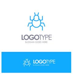 Bug nature virus indian blue outline logo place vector