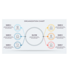 Business infographic circular chart with 6 vector