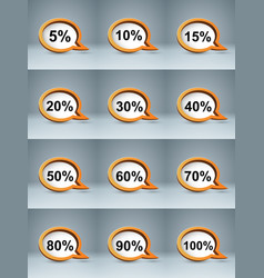 Business infographics percent icon vector