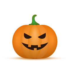cartoon halloween pumpkin pumpkin vector image