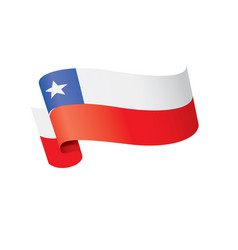 Chile flag on a white vector