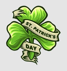 clover leaf logo st patricks day party vector image