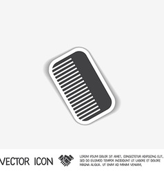 comb barbershop symbol of hair and beauty salon vector image