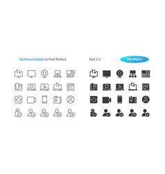 Communication ui pixel perfect well-crafted vector