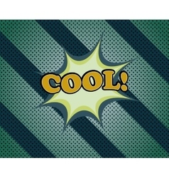 Cool comic retro cartoon vector