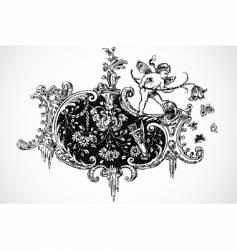 cupid ornament vector image vector image