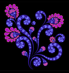 Decorative flower ornament vector