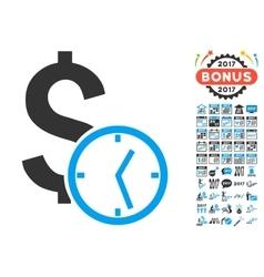 Dollar Credit Icon With 2017 Year Bonus Symbols vector