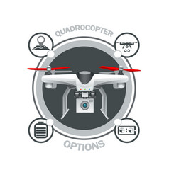 drone quadrocopter options vector image