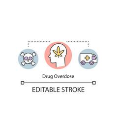 Drug overdose concept icon vector