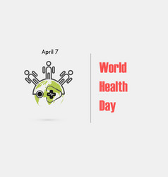 family iconglobe sign and stethoscope logo vector image