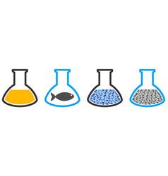 Fish oil glassware flask collage vector
