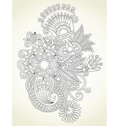 Flower design element vector