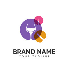 Food and drink logo design concept full color vector