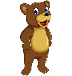 funny bear cartoon smiling vector image
