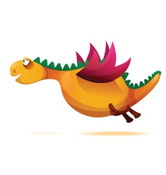 funny yellow dragon vector image