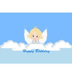 Greeting card with the angel vector
