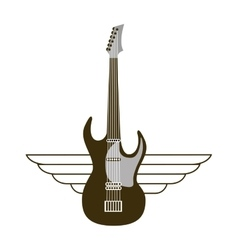 Guitar electric musical instrument icon vector
