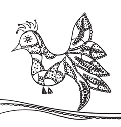 Hand drawing zentangle element decorative vector
