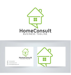 Home consulting logo design vector
