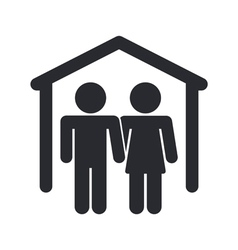 home couple icon vector image