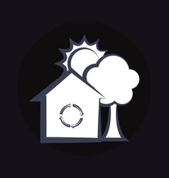 House with recycle symbol vector
