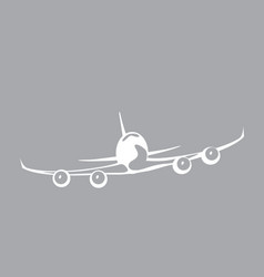 Jumbo jet airliner in the sky vector