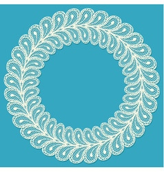 Lacy frame on blue background vector