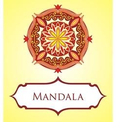 Mandala card vector image